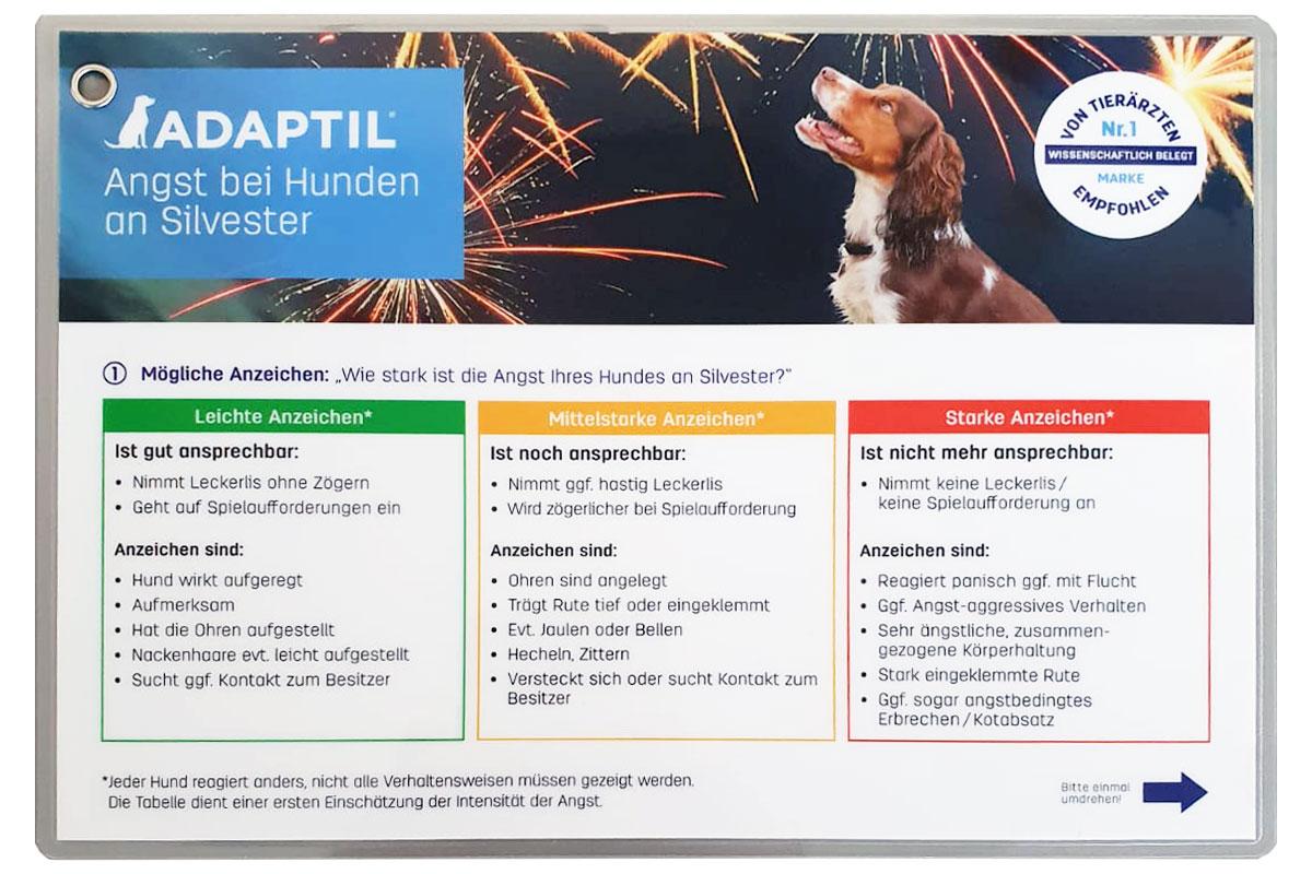 Laminierte Hinweise für Hundebesitzer
